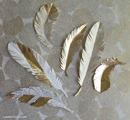 Diy Feather Chandelier Diy Paper Feathers In Gold Lia Griffith