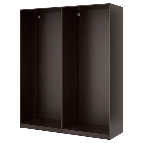 Brown Wardrobe With Mirror Pax Wardrobe With Sliding Doors Black Brown Auli Mirror