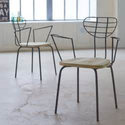 metal armchair tikamoon lina pine and metal armchair