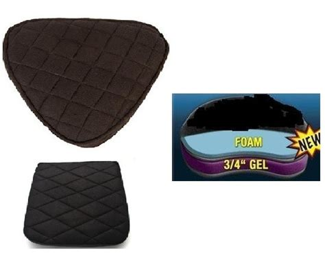 motorcycle gel seat pad australia motorcycle gel pads driver and or back seat for triumph