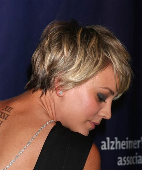 is kaley cuoco growing her hair back kaley cuoco short straight casual hairstyle with side