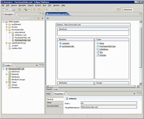 eclipse xsd editor design view getting started html