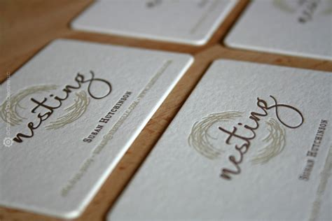 interior design business cards ideas nesting llc s letter pressed business card by curious