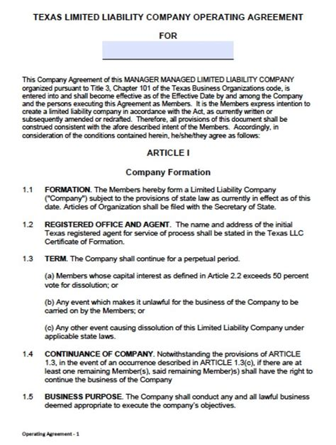llc partnership agreement template llc operating agreement template