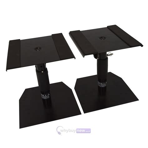 desk studio monitor stands pair gorilla gsm 50 desktop studio monitor stands whybuynew