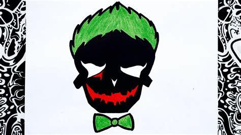 imagenes del guason para dibujar faciles como dibujar al guason logo del joker escuadron suicida