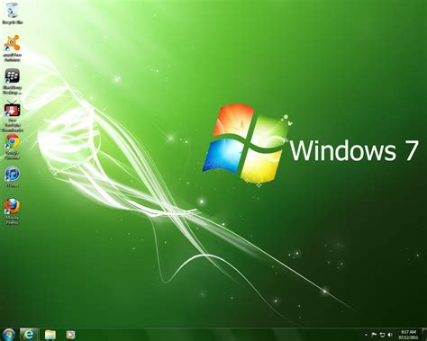 goldfish themes for windows 7 windows 7 sweet green themepack by coolmaster223 by