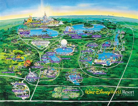themes park disney theme parks fl walt disney world resort map jpg 1400 215 1073