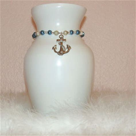 Navy Blue And White Vases Anchor Glass Vase Navy Blue And White From Centertwine