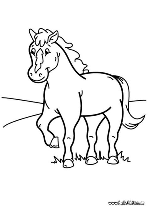 coloring pictures of pony pony coloring pages hellokids com