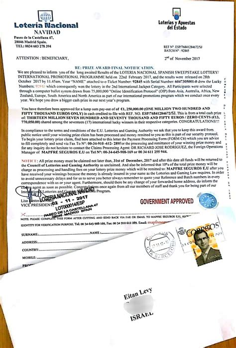 Loteria Nacional Spanish Sweepstake Lottery - spanish politics stole my mail daniella levy the blogs