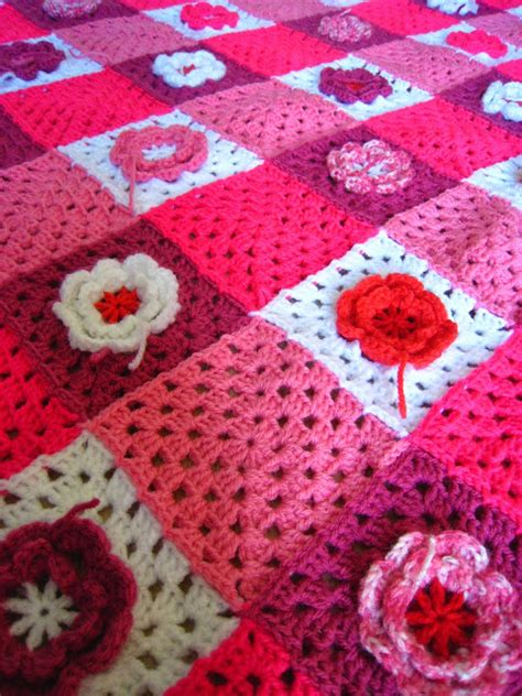 oh milly crochet flower blanket