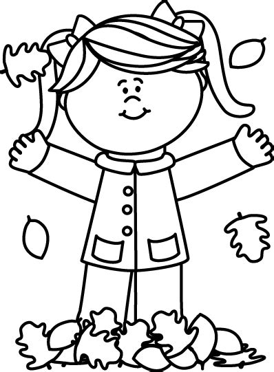 fall clipart black and white black and white in leaves clip black