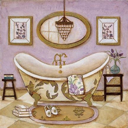 bathtub art lavender bath ii fine art print by tava studios at