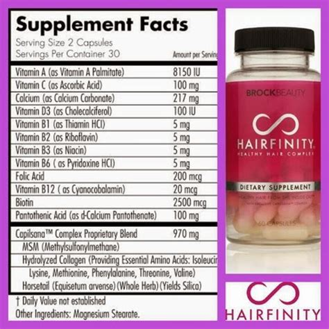 ingredients for dasgro hair supplements the world of phoenix hairfinity hair journey