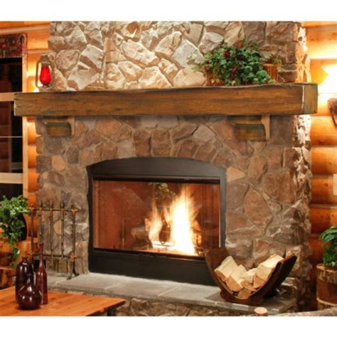 Rustic Fireplace Mantel Shelf by New Pearl Mantels Shenandoah Traditional Rustic Made Wood