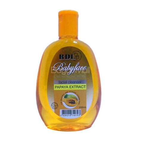 rdl babyface cleanser papaya extract 250ml