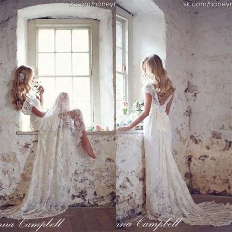 anna cbell inspired beach wedding dresses sleeves 2015 vintage anna cbell 2015 backless lace bohemian boho wedding