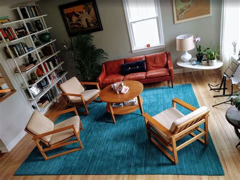 the living room today mid century