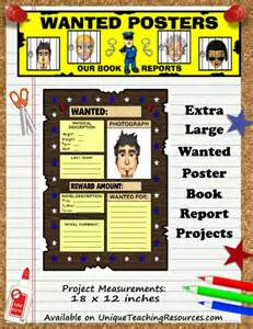 Book Report Posters Pics Photos Fun Book Report Wanted Poster
