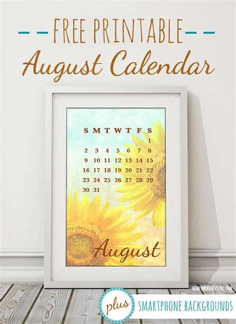 printable august calendar smartphone backgrounds