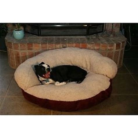 machine washable dog bed soft round pet bed large dog cat plush removable cover