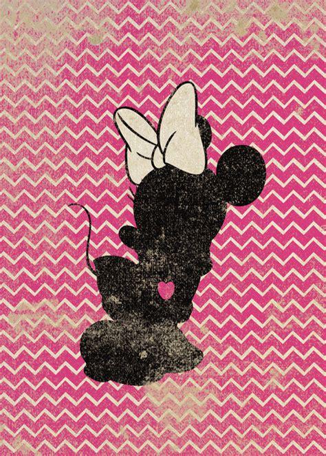 imagenes para tumblr de fondo minnie minnie mouse inspired silhouette on chevron background 5x7