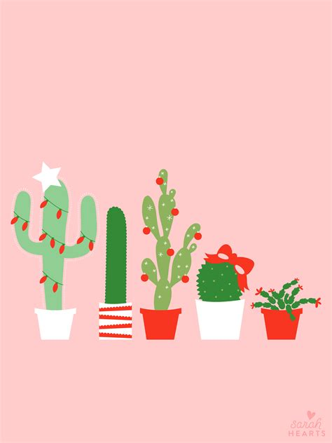 christmas wallpaper for apple watch december 2017 christmas cactus calendar wallpaper sarah