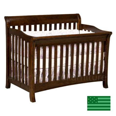 American Made Crib by Amish Belmont 4 In 1 Convertible Baby Crib Solid Wood