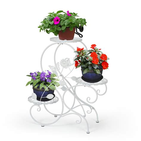 three tier hanging herb planter garden therapy 3 tier metal plant stand flower pot display rack holder