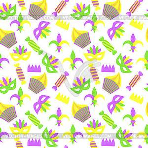 gras pattern ai colored seamless pattern to mardi gras vector clip art