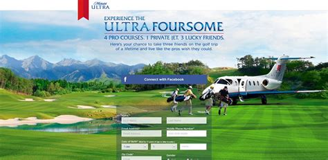 Golf Trip Sweepstakes - michelob ultra ultra foursome golf trip sweepstakes