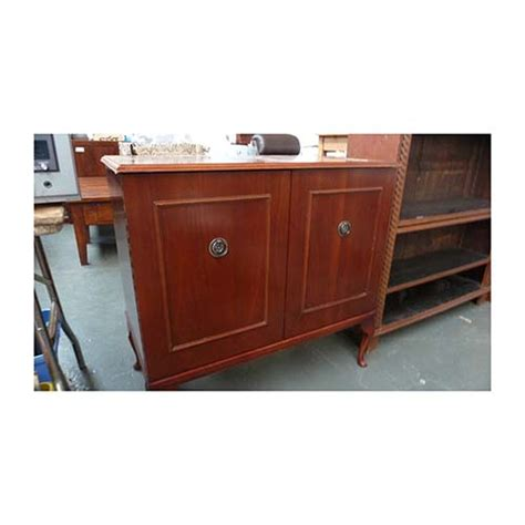 Mahogany Stereo Cabinet by A Georgian Style Mahogany Stereo Cabinet Lot 288