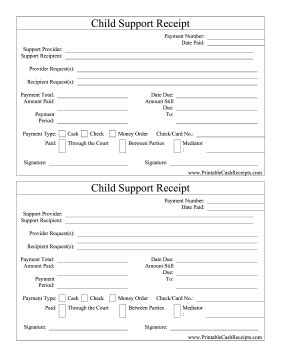 Spousal Support Receipt Template by Gallery Child Support Print Out Human Anatomy Chart