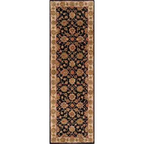 12 ft runner rugs artistic weavers norfolk charcoal 3 ft x 12 ft rug runner norfolk 312 the home depot