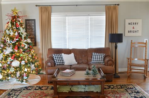 holiday home tour living room decor and the dog christmas tour living room at home with the barkers