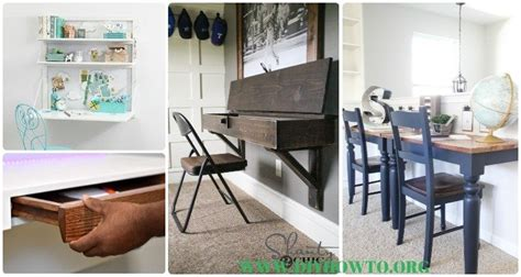 diy wall mounted desk  plans instructions