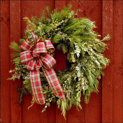 springledge balsam 24 quot decorated wreath free shipping