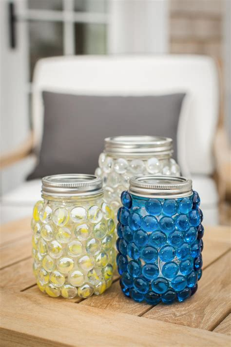 beads decoration home photos hgtv colorful glass bead decorated mason jar