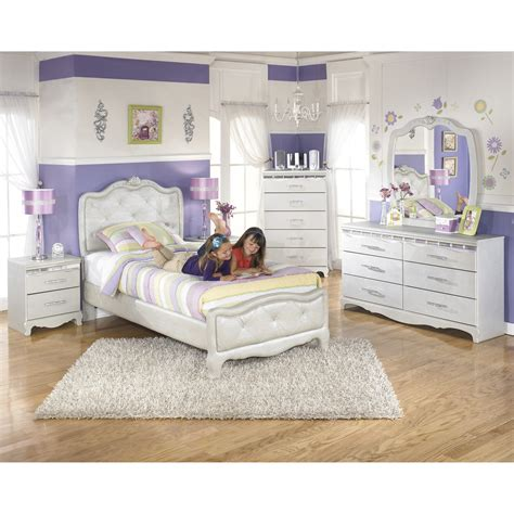 twin size bed for girl signature design by ashley zarollina panel bed reviews