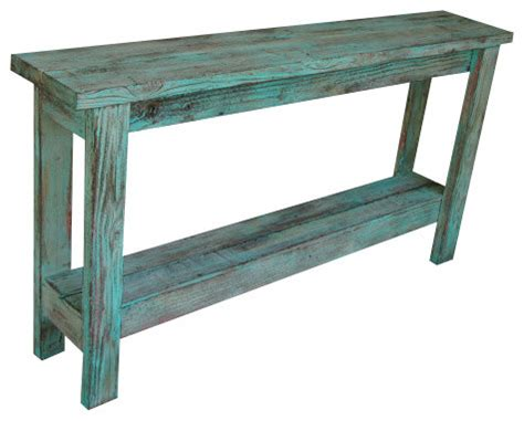distressed sofa tables aqua distressed sofa table farmhouse console tables