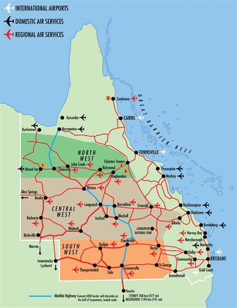 queensland australia map queensland in australia map