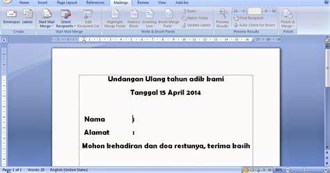 fungsi layout pada microsoft word fungsi mailings pada microsoft office word tutorial komputer