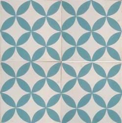 Cement Tile Petals Blue Cement Tile