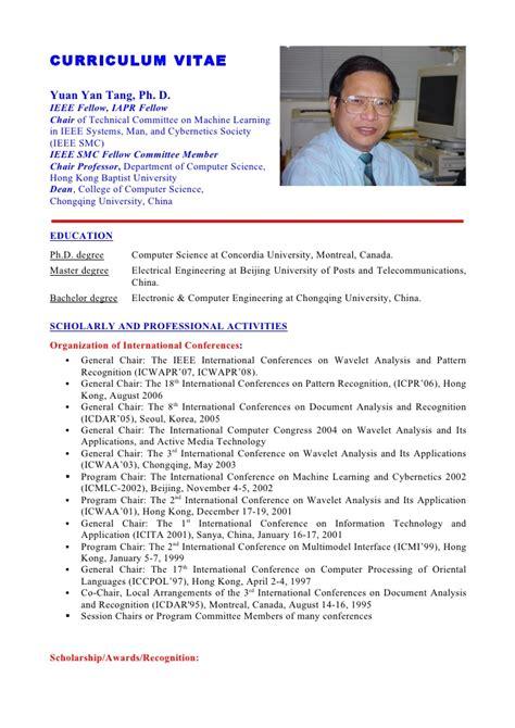 format cv english doc cv english doc