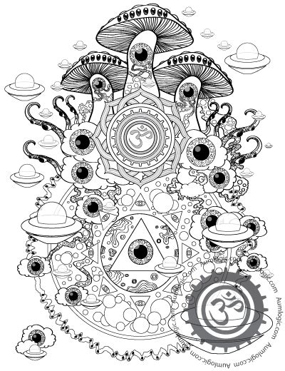 Trippy Coloring Pages Mushrooms by Psychedelic Coloring Pages Magic Colorin