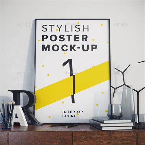 Home Design Interiors Software posters mock up by aleksgusakov graphicriver