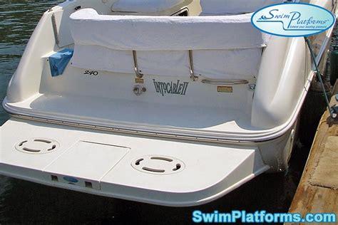 sea ray boat swim platform extension boat transom ladder stlfamilylife