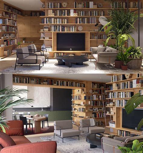salotto con libreria libreria a parete 25 idee di design per arredare il