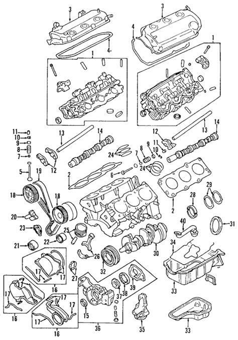 2000 mitsubishi montero sport 3 0 engine diagram parts 174 mitsubishi montero sport engine oem parts